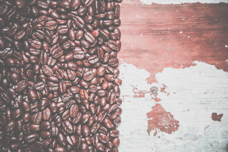 background of coffee and wood texture