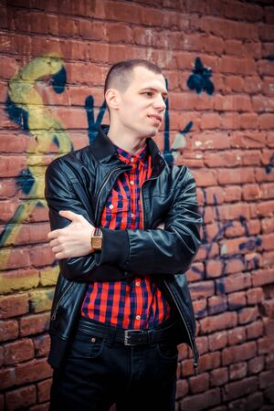men's clothing: Male model posing for the camera, mens clothing