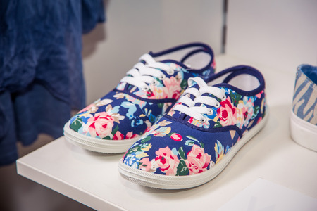Stylish shoes with rhinestones, women's shoes