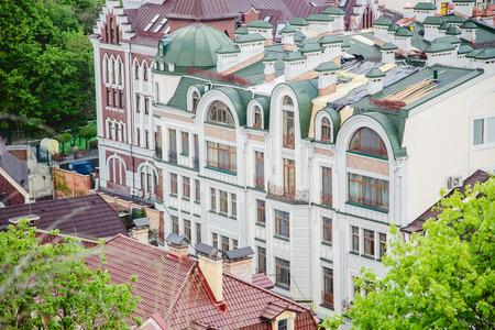 robo: Los techos de las casas, las calles de Kiev Foto de archivo