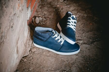 mens: Mens shoes, sneakers on nature, beauty fashion