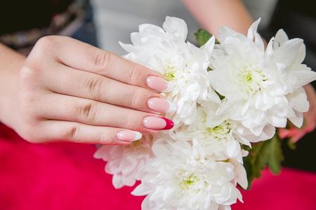 women's hands: Female Manicure, beauty style womens hands