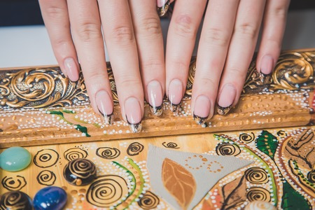 womens: Stylish womens manicure, hand care