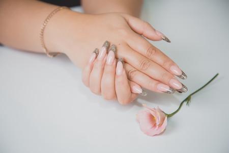 french manicure: Gentle manicure, French manicure, beauty