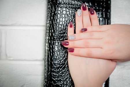 reticule: womens manicure on leather reticule