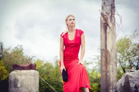 new collection: The girl in the red dress new collection of clothes< fasion