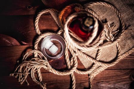 bourbon: Whiskey stylish photos, brandy and bourbon Stock Photo