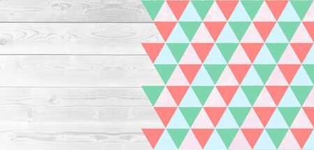 layout: Layout flyers, triangulation, background for advertising Stock Photo