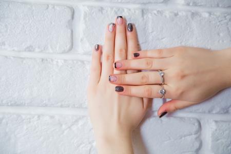 women's hands: stylish female Manicure, womens hands Stock Photo