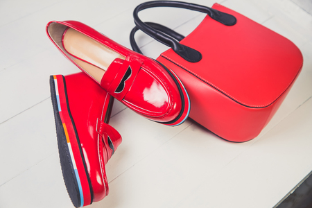 patent leather: red shoes, stylish patent leather shoes