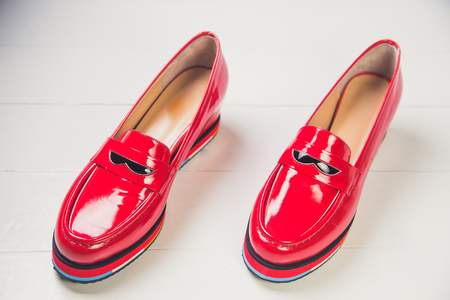 red shoes: red shoes, stylish patent leather shoes