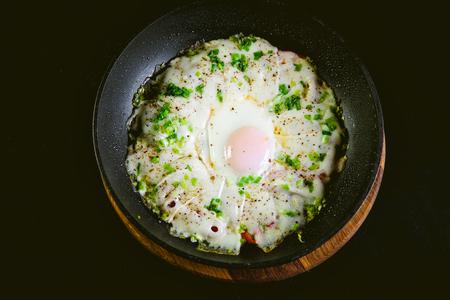scrambled: scrambled eggs scrambled eggs in a frying pan, breakfast, tasty