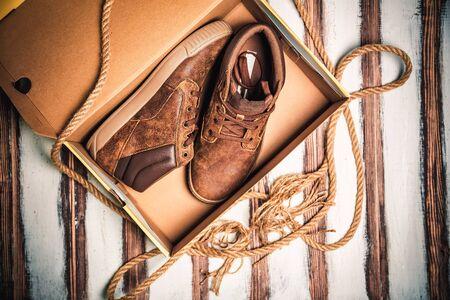 mens fashion: Brown mens shoes, mens fashion style
