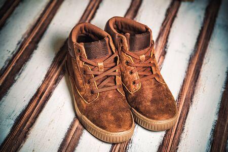 Brown men's shoes, men's fashion style