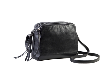 Black female bag on a white background, online catalog