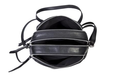 Black female bag on a white background, online catalog