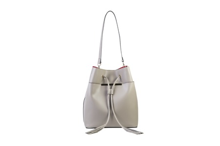 white female bag on a white background, online catalog Stock Photo