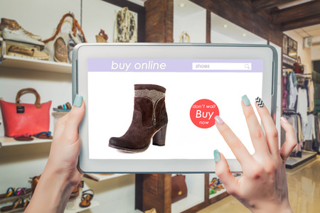 adverse: Online sales of womens shoes Stock Photo