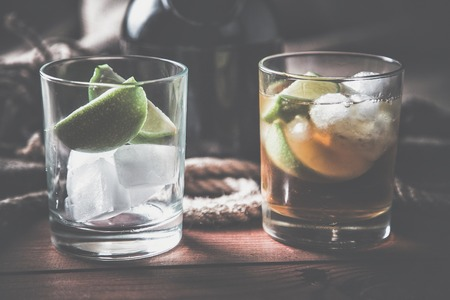 vintages: rum tequila, strong drinks vintage photo
