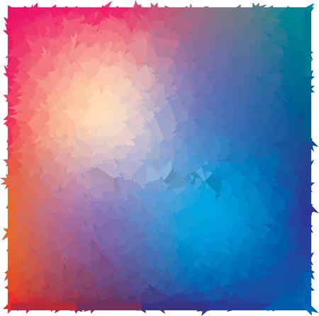 abstraction blue red triangulation, 3d hole, three-dimensional texture Ilustração