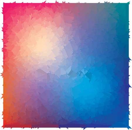 abstraction blue red triangulation, 3d hole, three-dimensional texture Illustration