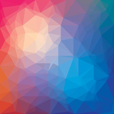 abstraction blue red triangulation, 3d hole, three-dimensional texture Illusztráció