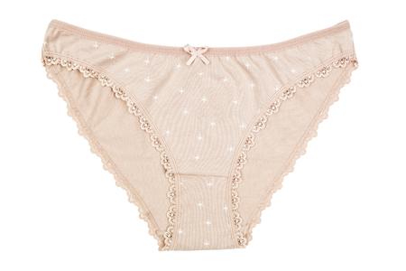 cotton panties: S mujeres ropa interior de algod�n con flores de color marr�n sobre fondo blanco