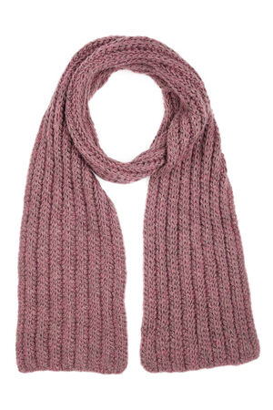 Lilac wool scarf isolated on white background photo