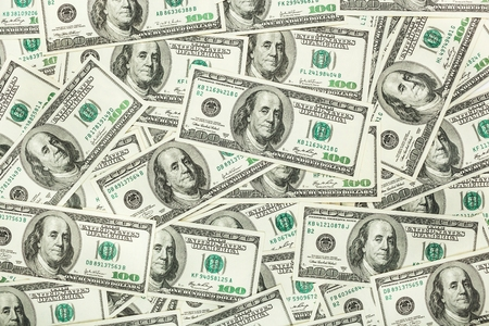 dolar: Paper money and dolar. background of banknotes for the screen saver on the monitor.