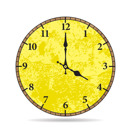 vespers: Vector old clock face