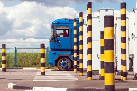 checkpoint: International Automobile Border Checkpoint Hoptivka In Kharkiv Region, Ukraine
