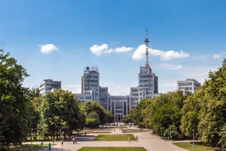 kharkov: Gosprom administrative complex in Kharkiv, Ukraine Stock Photo