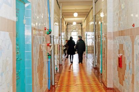 Kharkiv, Ukraine - October 26, 2017: Prison corridor at Kharkiv Penitentiary Facility Editöryel
