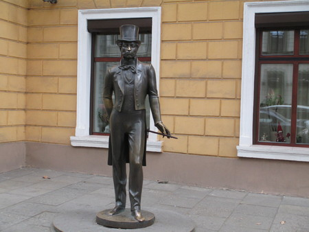Pushkinskaya street in Odessa. Фото со стока