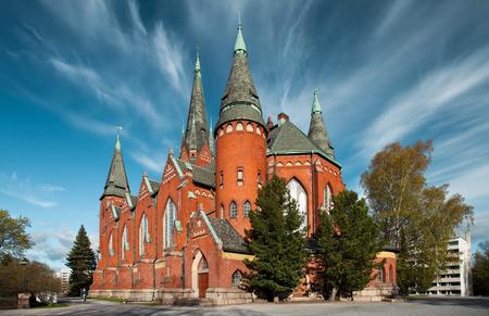 turku: Unusual sky above Michaels church in Turku, Finland