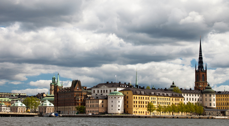 stockholm: View of Riddarholmmen from Stockholm city hall Editorial