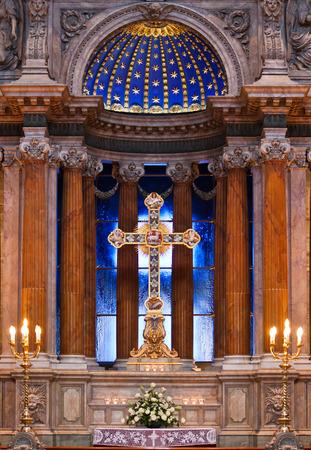 interrior: The altar of the Catholic Church Editorial
