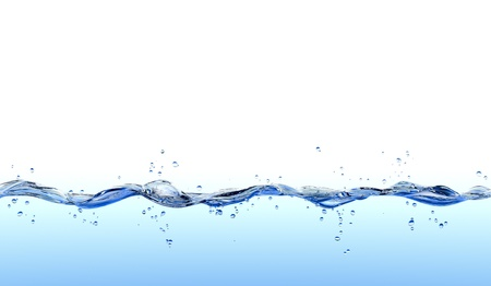 Water splash geïsoleerd op een witte achtergrond.
