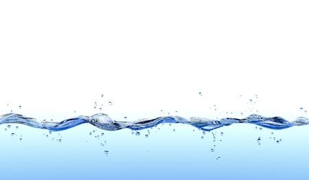 surface closeup: Water splash isolated on white background.