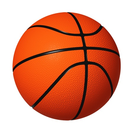 Basketball isolated on white background. Banco de Imagens - 10745026
