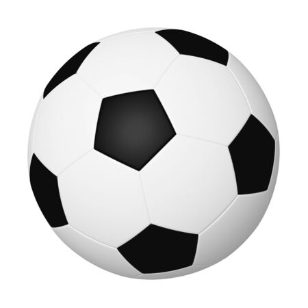 Classic soccer ball isolated on white photo