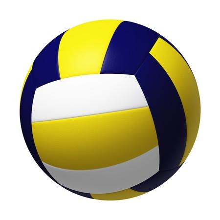 白い背景で隔離のバレーボール。
