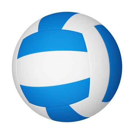 Volleyball isoliert auf weißem Hintergrund. Standard-Bild - 10745001