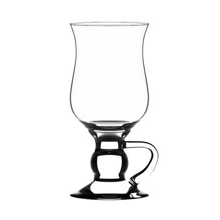 coctail: Empty irish coffee glass isolated on white. Stock Photo