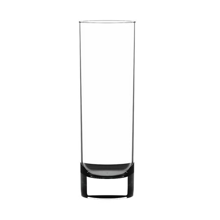glass reflection: Empty highball glass isolated on white. Stock Photo