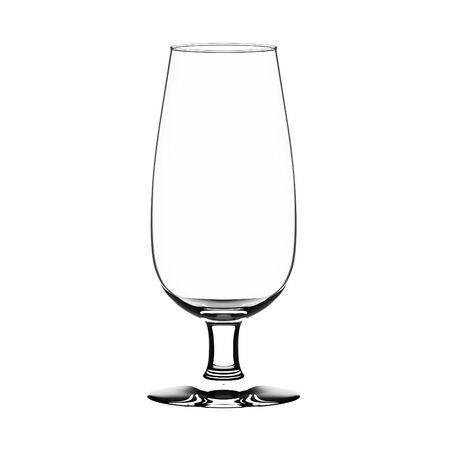port wine: Empty port-wine glass isolated on white. Stock Photo