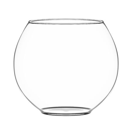 Empty fishbowl isolated on white. Stock Photo - 10745248