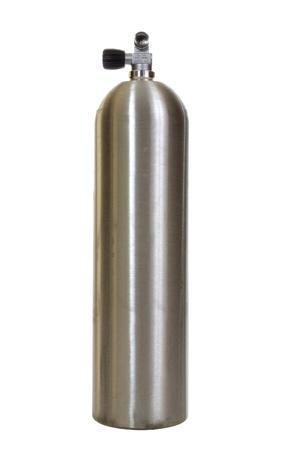 zylinder: Tauchen Tank isoliert auf wei�em Hintergrund Lizenzfreie Bilder