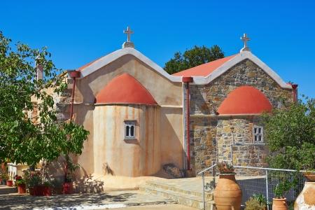 monastery nature: Monastery of Koufi Petra near Neapolis in Crete, Greece.