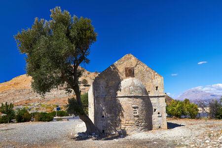monastery nature: Ruins of the Orthodox male monastery Agios Georgios near Festos in Crete, Greece